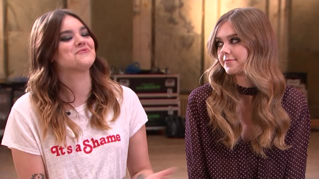 First Aid Kit interview ENGLAND London INT Johanna Soderberg and Klara Soderberg interview SOT a lot of young girls come to our shows / playing...