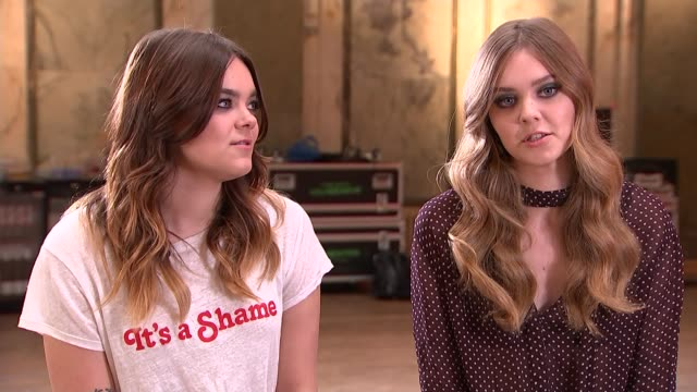 First Aid Kit interview Johanna Soderberg and Klara Soderberg interview SOT our mom is our hero / feminism / The Spice Girls CUTAWAY reporter