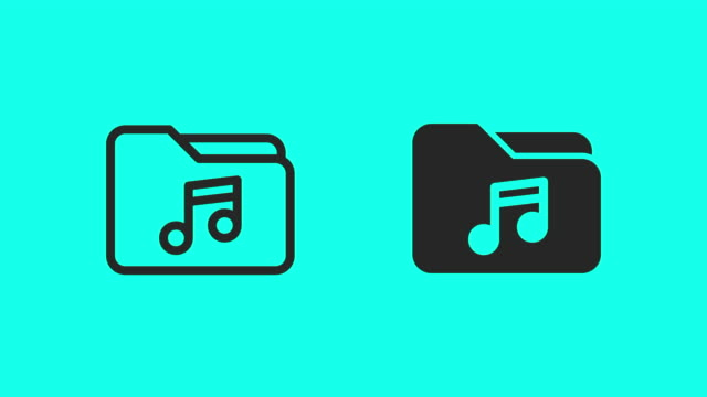 music folder icons - vector animate - global communications vector stock videos & royalty-free footage