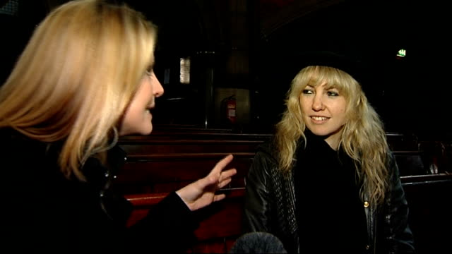Fratellis and Noah The Whale performing at Little Noise session for Mencap Stained glass window Phillipa 'Pip' Brown interview SOT Looking forward to...