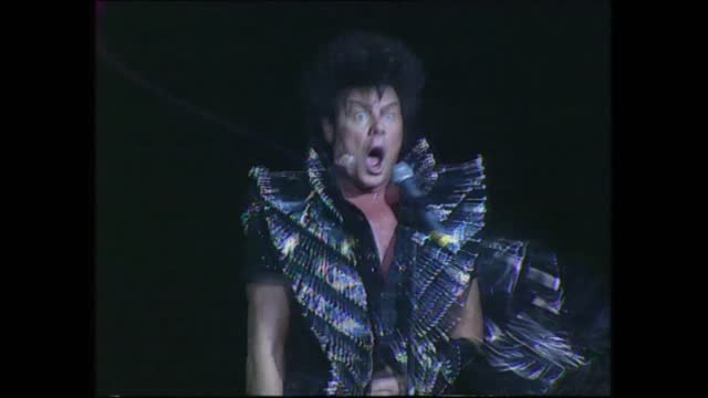 gary glitter christmas pantomime; england: london: wembley: int gary glitter interview sot extract gary glitter wembley christmas panto performance... - gary glitter stock videos & royalty-free footage
