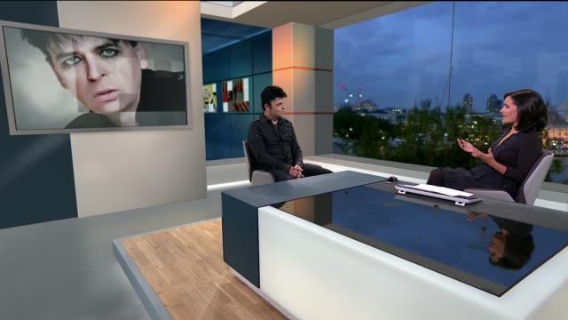 gary numan to stage london concerts england london gir int gary numan live studio interview sot talks of receiving a q award / talks of first using a... - gary numan stock videos & royalty-free footage