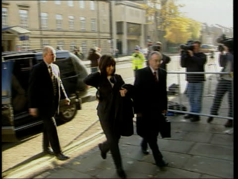 george harrison attacker in court den harry england oxfordshire oxford ext olivia harrison wife of former beatle george harrison from car pan and... - oxfordshire stock videos & royalty-free footage
