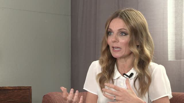 geri halliwell interview; england: london: int geri halliwell interview sot - re new charity single 'angels in chains' - geri horner stock videos & royalty-free footage