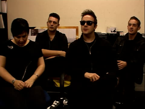 glasvegas interview; glasvegas interviewed sot - more on battle with metallica / on being nominated for q award best new act and the competition / on... - メタリカ点の映像素材/bロール