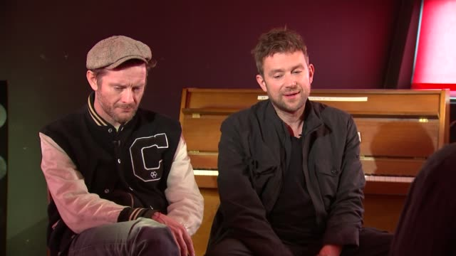 Gorillaz interview Music Gorillaz interview Damon Albarn and Jamie Hewlett interview SOT re Trump and new album CUTAWAYS reporter