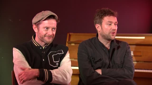 Gorillaz interview Music Gorillaz interview Damon Albarn and Jamie Hewlett interview SOT CUTAWAYS reporter