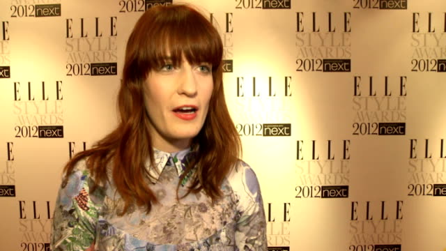grammy awards 2012 adele wins six awards england london florence welch interview sot on adele winning - grammy awards stock videos and b-roll footage