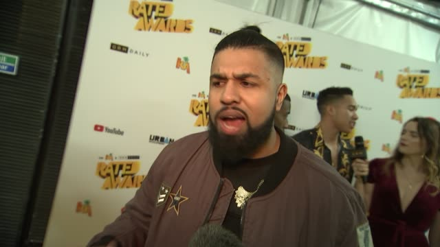 grime rated awards red carpet interviews unidentified interview sot humza arshad interview sot aj tracey interview sot stormzy and maya jama... - stormzy stock videos and b-roll footage