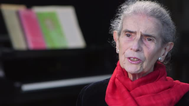 holocaust memorial day: piano teacher nelly ben-or on her memories of auschwitz; england: int nelly ben-or interview sot - war and conflict stock videos & royalty-free footage