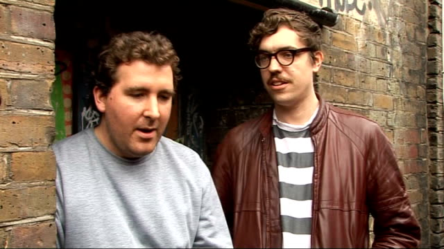 hot chip interview goddard and martin interview sot on the new album it will be definitive hot chip record / plan to make each track a potential... - covering stock videos and b-roll footage