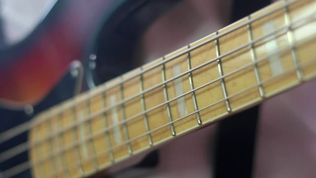 music instrument guitar - bass guitar stock videos & royalty-free footage