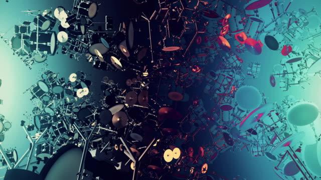 vidéos et rushes de tambour d'instruments de musique - un seul objet