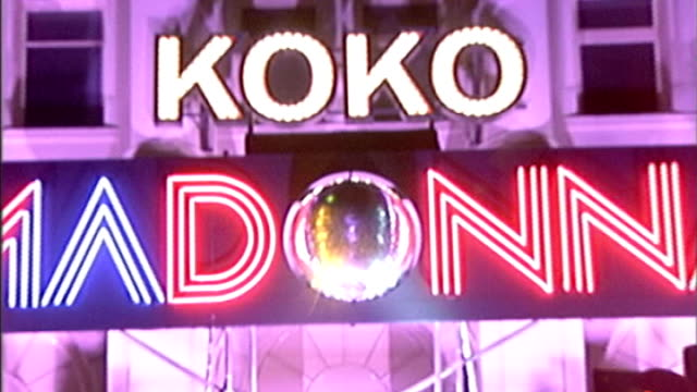 stockvideo's en b-roll-footage met interview matt cardle on making is london debut filel / tx camden madonna name in lights outside koko club - 2005