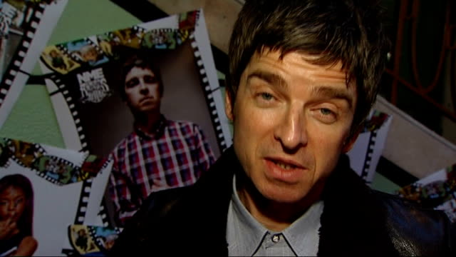 interview with noel gallagher; england: london: int noel gallagher interview sot re being god like - its just another day for me - from a very early... - organised group stock videos & royalty-free footage
