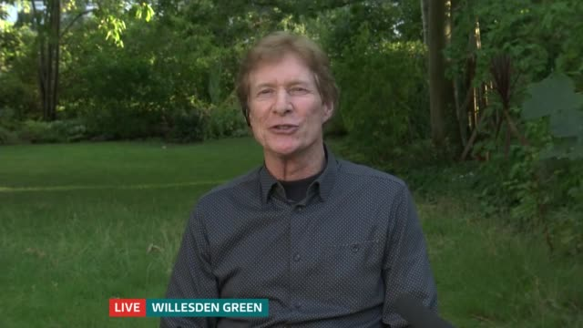 interview with paul jones of manfred mann; england: london: gir: int paul jones live 2-way interview from willesden green sot - itv london tonight stock-videos und b-roll-filmmaterial