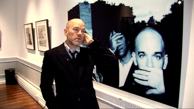 Interview with REM singer Michael Stipe ahead of new album release ENGLAND London INT **Music overlaid intermittently SOT** Michael Stipe interview...