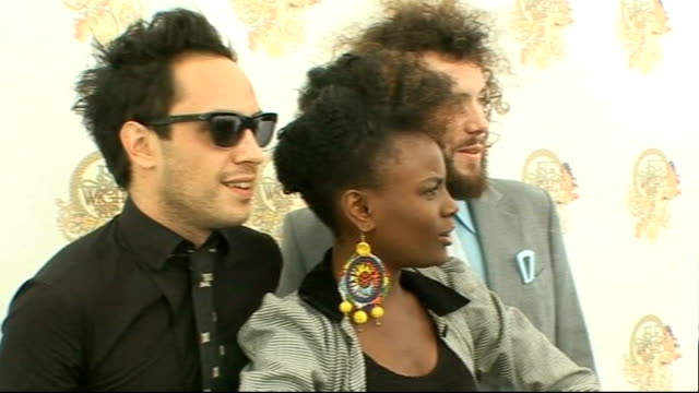 vídeos y material grabado en eventos de stock de isle of wight festival interviews noisettes photocall and interview sot on playing the festival for the first time / on the history of the festival... - jimi hendrix