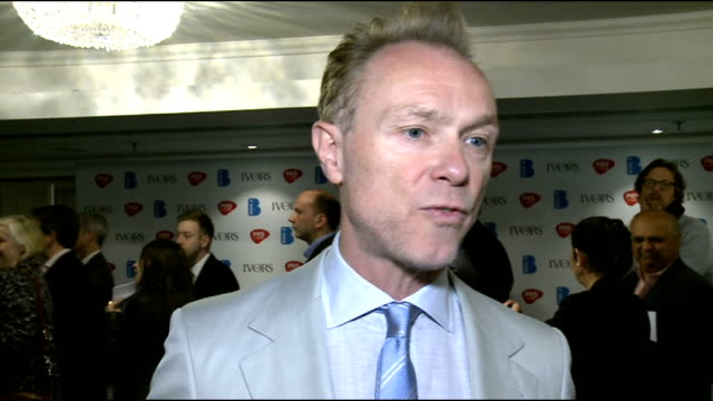 ivor novello awards 2012 celebrity interviews gary kemp interview sot on being at the ivor novellos / why people love adele / x factor and the voice... - tim rice stock videos and b-roll footage