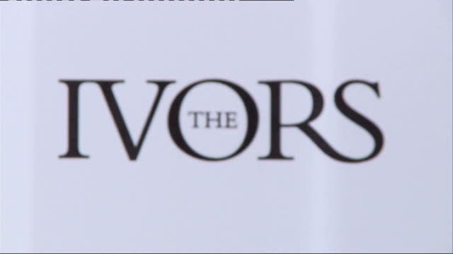 ivor novello awards 2013; gavin rossdale general views / interview sot close up shots ivors logo / awards statuette / ivors logo / noel gallagher... - ray davies musician stock videos & royalty-free footage