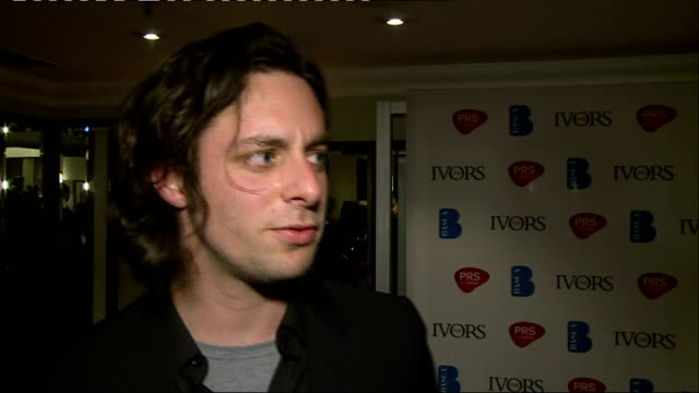 Ivor Novello Awards 2013 Winners Room Maccabees and James Bradfield photos Felix White interview SOT General view AltJ Marc Almond interview SOT AltJ...