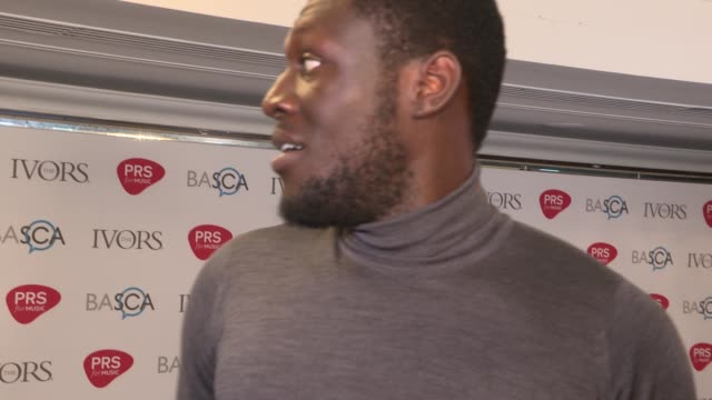 Ivor Novello awards Red carpet arrivals and winners' room ENGLAND London PHOTOGRAPHY*** Red carpet Stormzy interview SOT