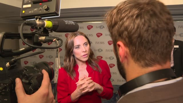 Ivor Novello awards Red carpet arrivals and winners' room ENGLAND London PHOTOGRAPHY*** Red carpet Melanie C interview SOT