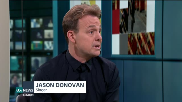 jason donovan announces new tour donovan live studio interview sot - popular music tour stock videos and b-roll footage
