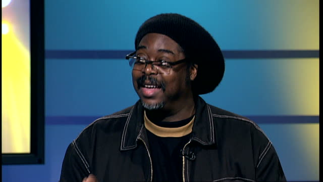 jazz interview courtney pine gir int courtney pine interview continued sot saying jazz is event for people / saxophonists playing in marylebone... - メリルボーン点の映像素材/bロール