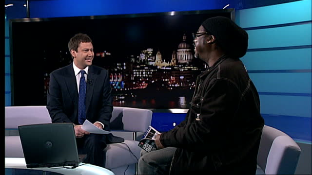 interview courtney pine; gir: int courtney pine interview continued sot - herbie hancock is performing - herbie hancock stock-videos und b-roll-filmmaterial