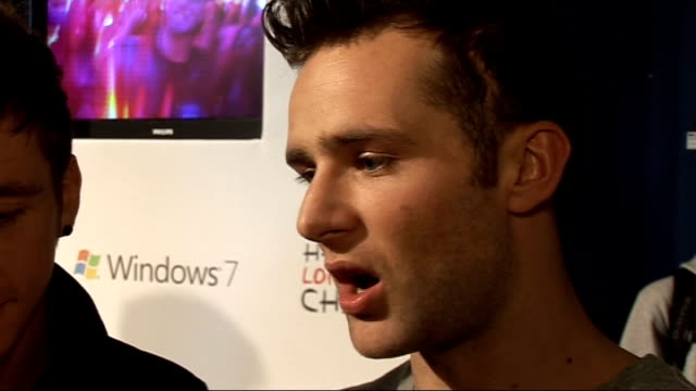Jingle Bell Ball at 02 Arena backstage interviews Dougie Poynter and Harry Judd interview SOT On working with Taio Cruz / On just how different their...
