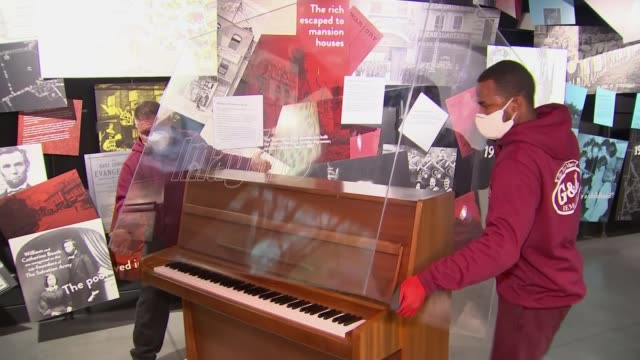 john lennon's piano to be shown at liverpool exhibition to mark his 80th birthday england liverpool int gv sign projected on wall 'strawberry field'... - imagination stock videos & royalty-free footage
