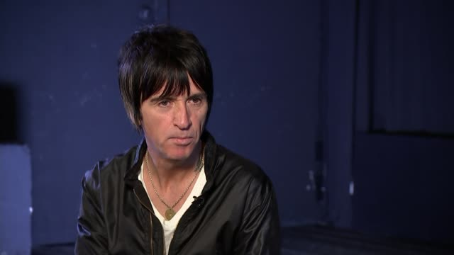 Johnny Marr interview ENGLAND London ICA INT Johny Marr interview SOT