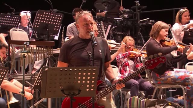 joy division guitarist peter hook brings new show to london england manchester int various of peter hook and the manchester camerata orchestra... - damon green stock videos and b-roll footage