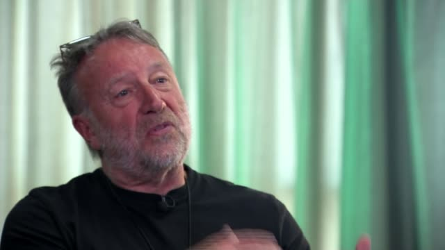 joy division guitarist peter hook brings new show to london england manchester int peter hook interview sot reporter - damon green stock videos and b-roll footage
