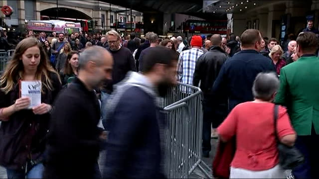 kate bush returns to hammersmith apollo for first of 22 shows england london hammersmith apollo ext gvs fans queuing outside hammersmith apollo ahead... - pink singer stock videos and b-roll footage