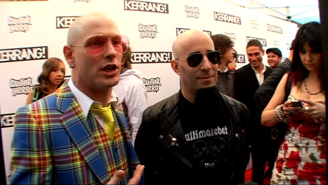 Kerrang Awards 2009 interviews and general views Corey Taylor and Scott Ian interviewed SOT On cohosting the ceremony on Corey being nervous on...