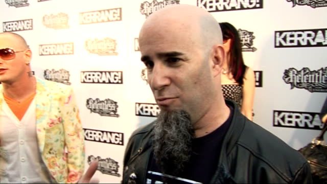 kerrang awards 2010 interviews pre and postceremony corey taylor interview on red carpet sot on his outfit scott ian interview sot on hosting awards... - pink singer stock videos and b-roll footage