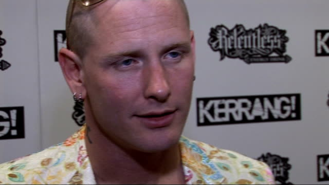 Kerrang Awards 2010 interviews pre and postceremony Corey Taylor photocall Corey Taylor interview SOT On accepting 'Services to Metal' Award on...