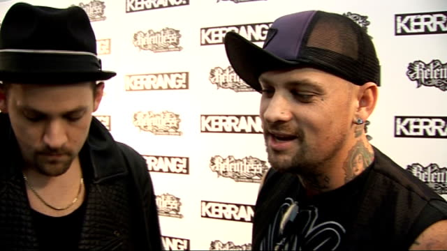 Kerrang Awards 2010 interviews pre and postceremony Joel Madden and Benji Madden interviewed SOT On the Kerrang Awards / On who they want to hang out...