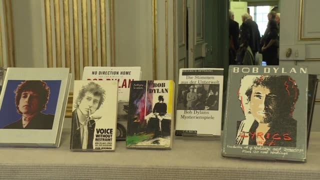 us music legend bob dylan wins the nobel literature prize the first songwriter to win the prestigious award in a decision that stunned prize watchers - literature stock videos & royalty-free footage