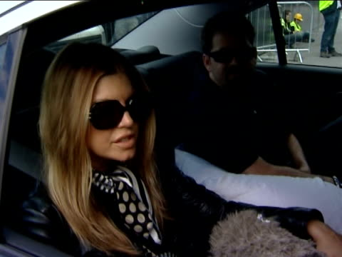 live earth concert preview fergie interview from back of car sot great cause world situation we're happy to be involved - fergie duhamel stock videos & royalty-free footage