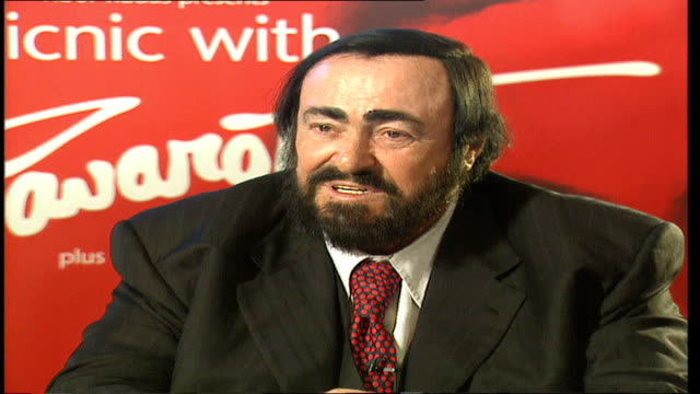 luciano pavarotti dies tx england london int luciano pavarotti interview sot on london in london you learn to talk bad when something is bad on... - luciano pavarotti stock videos & royalty-free footage