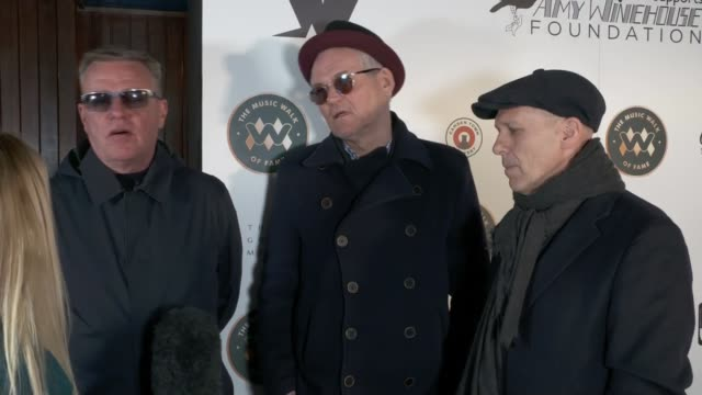 madness honoured on uk's music walk of fame london uk mark bedford and suggs interview members of madness along to unveiling of madness stone on... - photo call stock videos & royalty-free footage