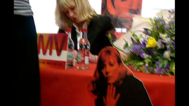 Marianne Faithfull interview 291996 INT Marianne Faithfull in HMV store launching her tour she signs autographs for fans