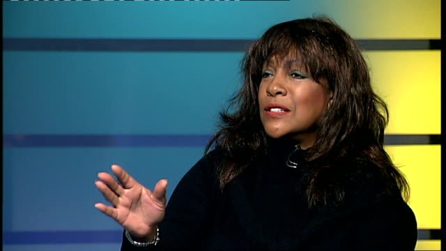 Mary Wilson interview London GIR INT Mary Wilson interview SOT saying she didn't like that song saying Diana Ross is her best friend and diva saying...