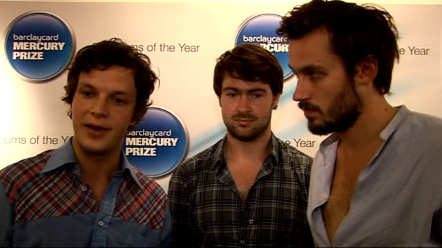 vidéos et rushes de mercury award nominations friendly fires interview sot feels wonderful to be nominated / people paying more attention to our music / when album came... - invisible