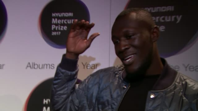 mercury awards grime artists amongst the nominations england london hammersmith int stormzy interview sot j hus interview sot - stormzy stock videos and b-roll footage