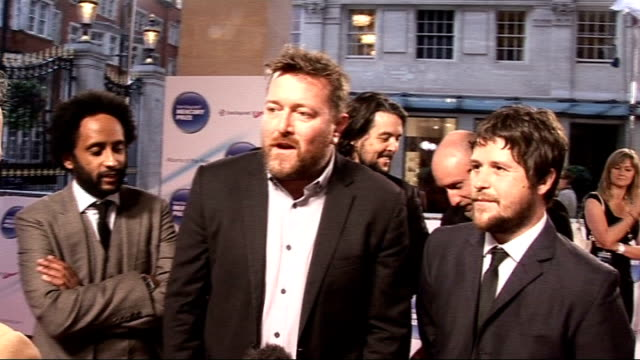 mercury music awards 2011 arrivals and interviews everything everything red carpet interview sot/ chipmunk talking to press on red carpet/ elbow red... - elbow stock videos & royalty-free footage