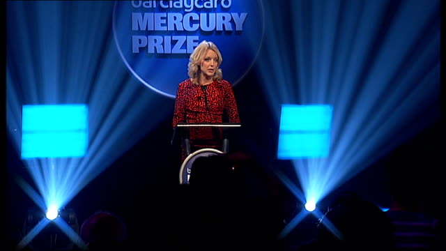 mercury music prize 2011 nominations announcement and performances england london int lauren laverne on stage announces first four albums nominated... - calvi stock videos and b-roll footage
